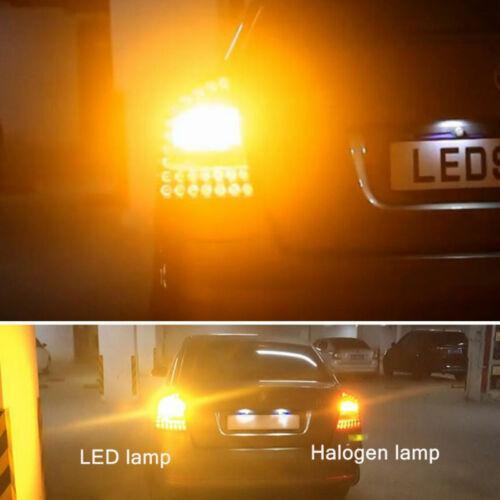 Bright Amber Orange 15-Smd Led 283 P21//5w 1156 Turn Signal Indicator Bulbs BA15S