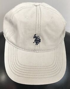 17918d35101 Image is loading U-S-Polo-Assn-Twill-Adjustable-Back-Tan-Pony-