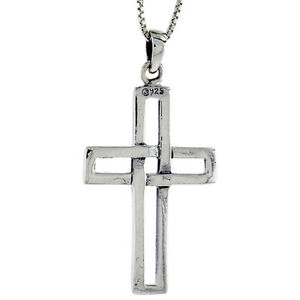 """Sterling Silver Large Crucifix with Cross Patonce Pendant Charm 2 1//16/"""" tall"""