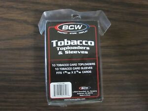 BCW-TOBACCO-TOP-LOADER-PACK-OF-10-COUNT-W-SOFT-SLEEVES
