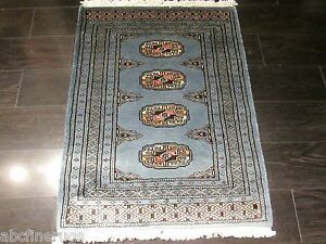 2x2 SQUARE Bokhara Allover-pattern Vegetable Dye Hand-knotted Wool Rug 582488