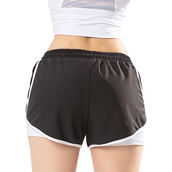 Frauen 2-in-1 Lauf Yoga Shorts für Frauen Workout Fitness Stretch Sport Shorts