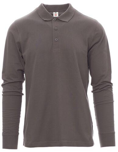 4XL t-shirt polo maglia maglietta uomo manica lunga 100/% cotone taglie forti S