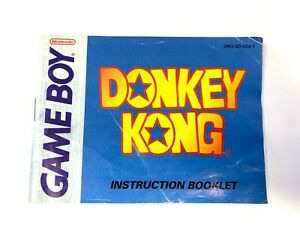 Donkey Kong Original Gameboy Instruction Manual Booklet Book