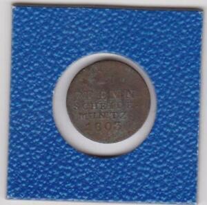 1-Pfennig-Hannover-1803-Georg-III-180-Stempeldrehung-coin-rotation