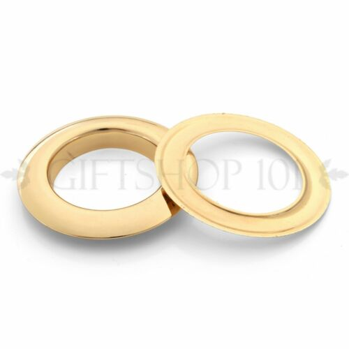 10pcs 60mm O-Ring Round Eyelet Metal Grommet Light Gold Tone Washer Grommets