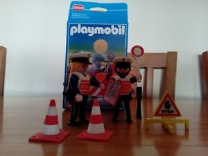 Playmobil-Policia-Checkpoint-Ref-3906-Completo-Usado-1997-Descatalogado-2003