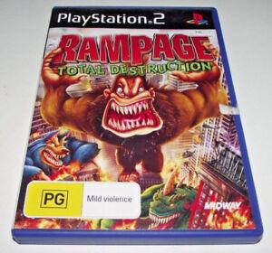 Rampage Total Destruction Ps2 Pal Complete Ebay