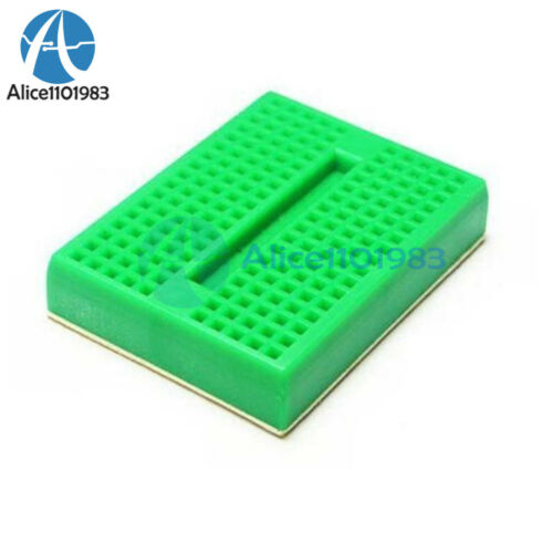 2PCS  170 Tie-points Mini Green Solderless Prototype Breadboard Arduino Shield