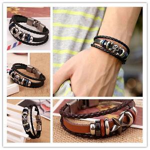 Herren-Damen-Leder-Armband-Bracelet-Unisex-Surferarmband