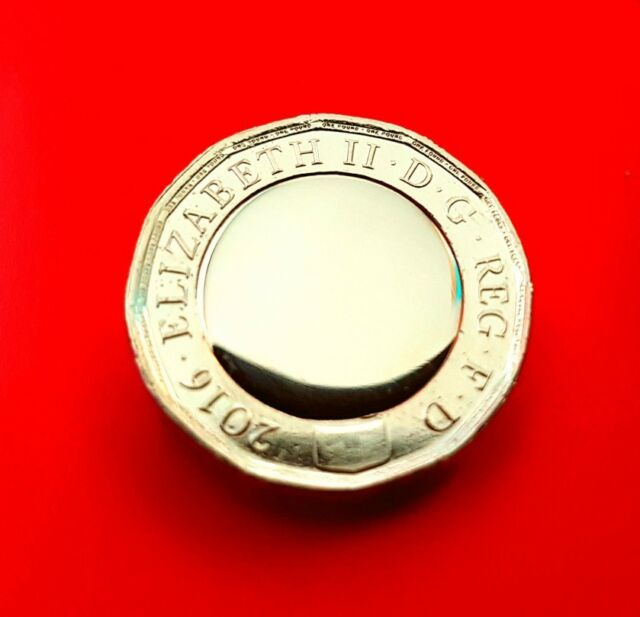 NEW £1 one pound coin 2017 2016 collectable rare error blank no Queein's head