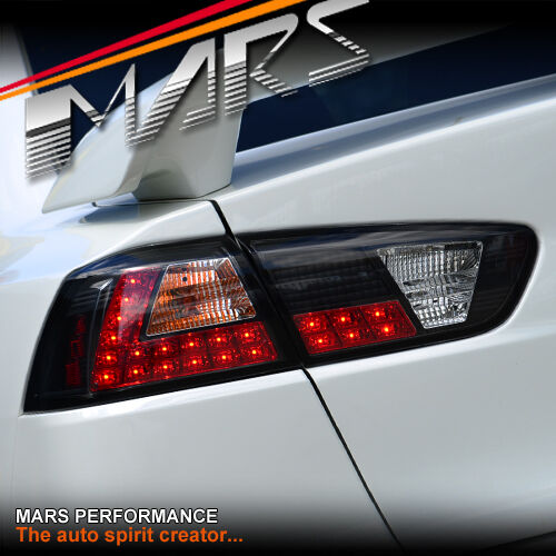 Black LED Tail Lights for MITSUBISHI LANCER SEDAN CJ CF 07-18 & EVOLUTION X