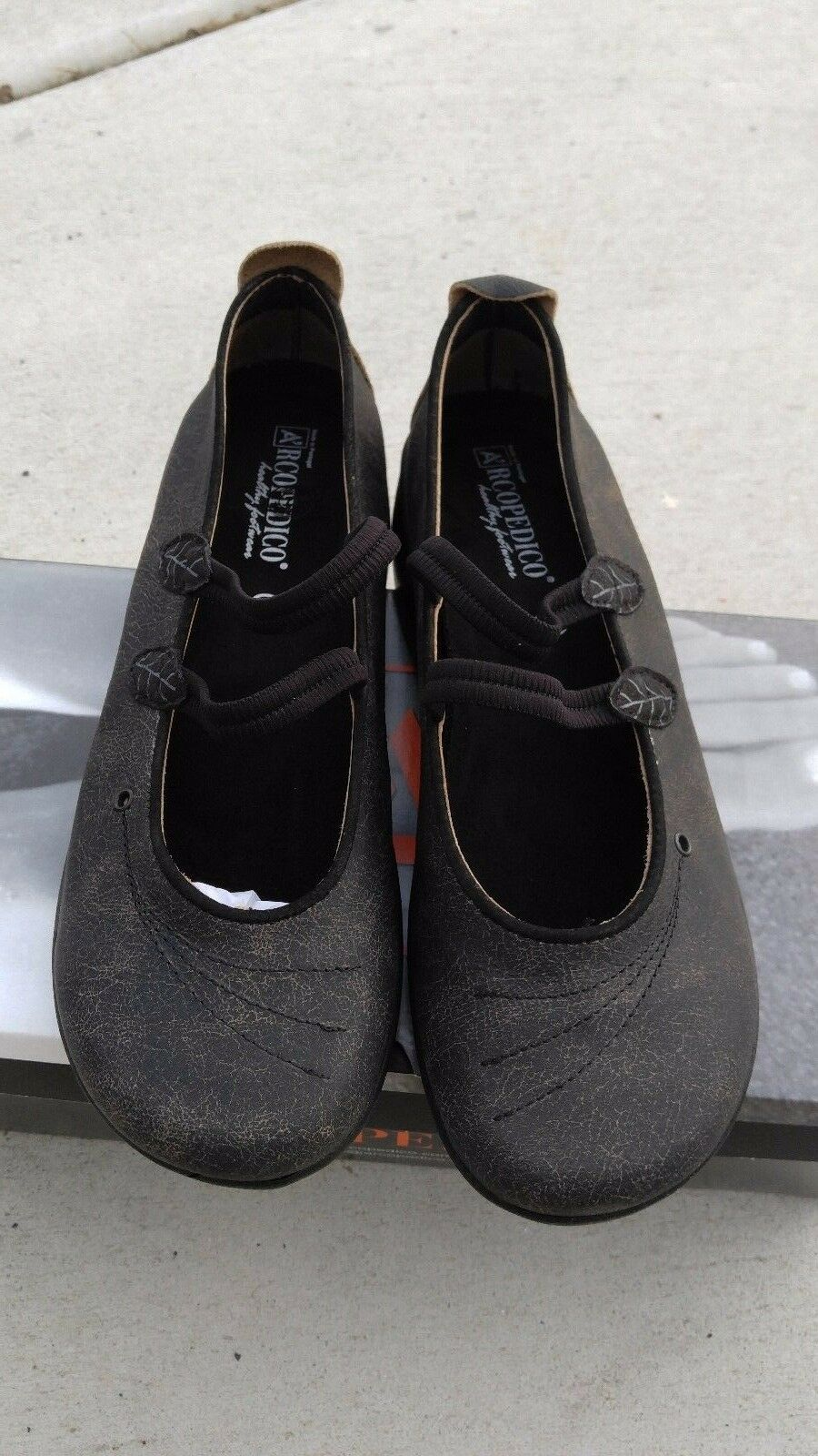 New Arcopedico 6383 Womens Blossom VB Black Ballet Flat shoes 40 EU   9 - 9.5 US