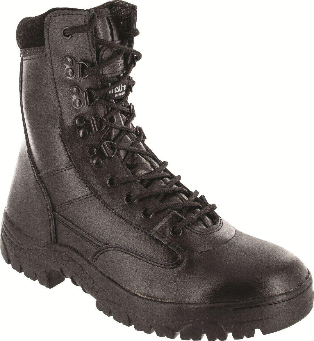 Highlander Delta démarrage adultes et jeunes hommes noir cuir dur travail forces Cadets