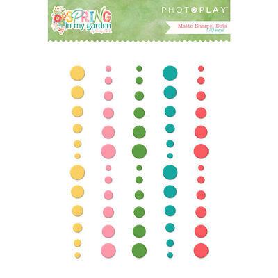 Eyelet Outlet Adhesive-Back Enamel Dots 54//Pkg Glitter Red 810787023600