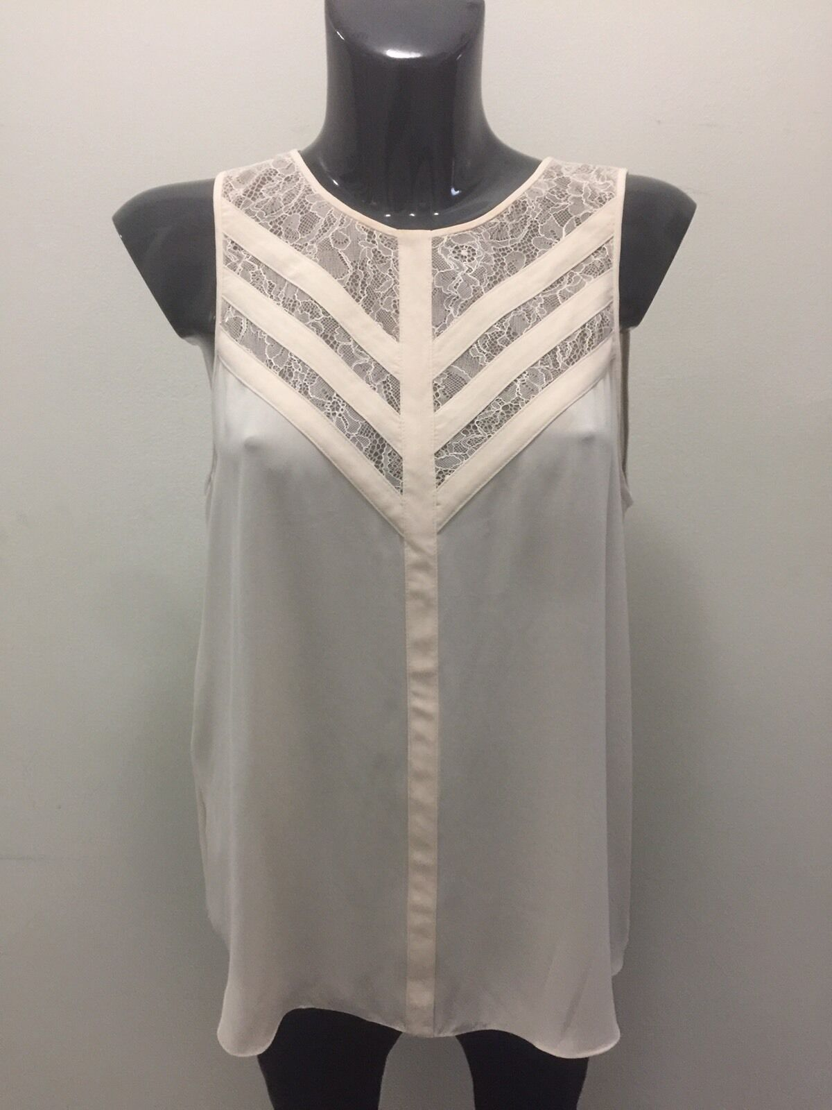 BCBG Max Azria Blouse, color Cream, Size Medium, Original Price  138