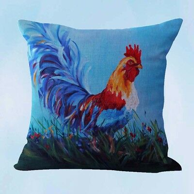 US Seller-farmhouse animal rooster chicken cushion cover furniture cushion cover