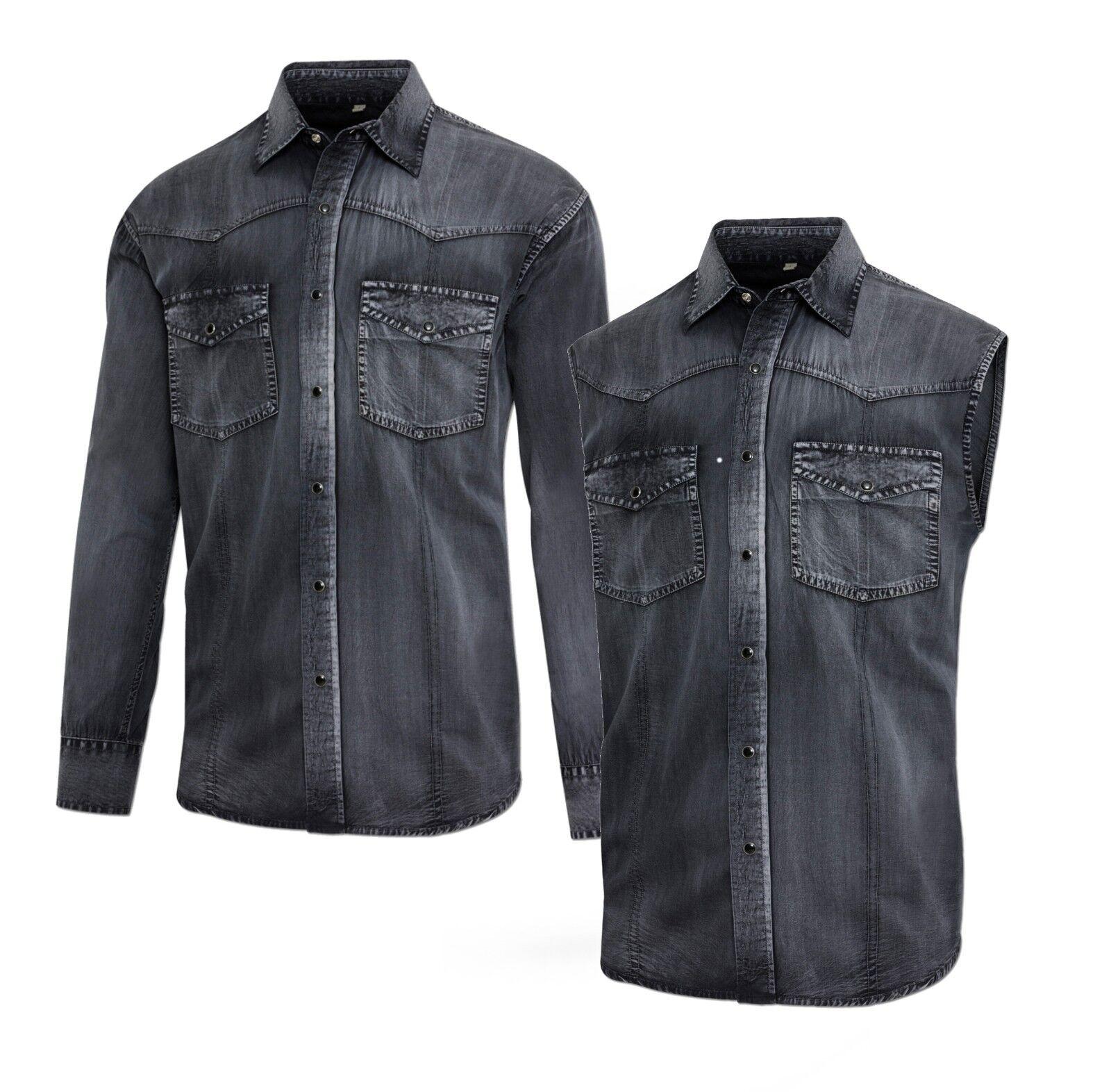 Stars & & & Stripes Herren-Westernhemd ENZO Westernkleidung Langarm oder Ärmelfrei   Schönes Design  aca7e5