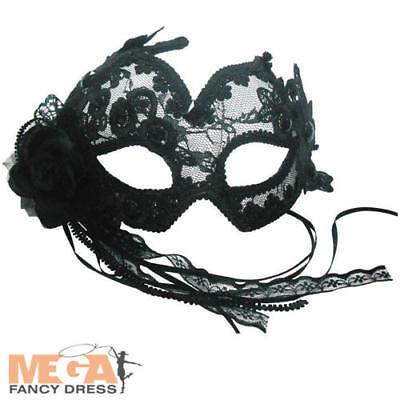 Diplomatico Mascherina Per Dormire Floreale Nero Donna Costume Ballo In Maschera Adulti Costume Acc-mostra Il Titolo Originale Sconto Online