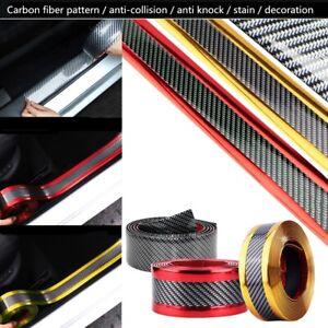 3-5-7CM-1M-Car-Carbon-Fiber-Rubber-Edge-Guard-Strip-Door-Sill-Protector-Flexible