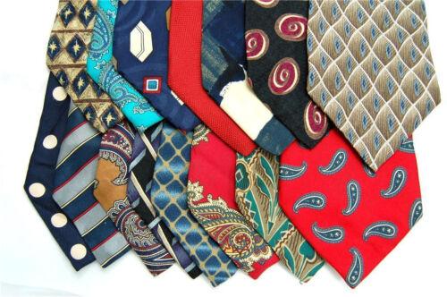 325 SILK MEN/'S JOB Crafts//Quilts//School//Art  projects NECK TIE NECKTIE TIES LOT