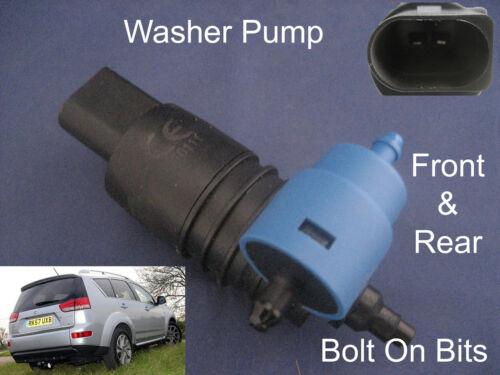 Front /& Rear Windscreen Washer Pump Fits Citroen C-Crosser 2007 through to 2013