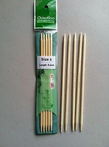ChiaoGoo-6-Inch-Moso-Bamboo-Natural-Double-Point-Knitting-Needles-MPN-1016