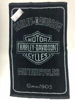 Harley Davidson Golf Greenside Towel, Black/Silver, Authentic,