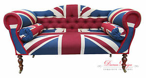 Gorgeous Bespoke Union Jack Design Double Ended Chaise Sofa **HAND ...