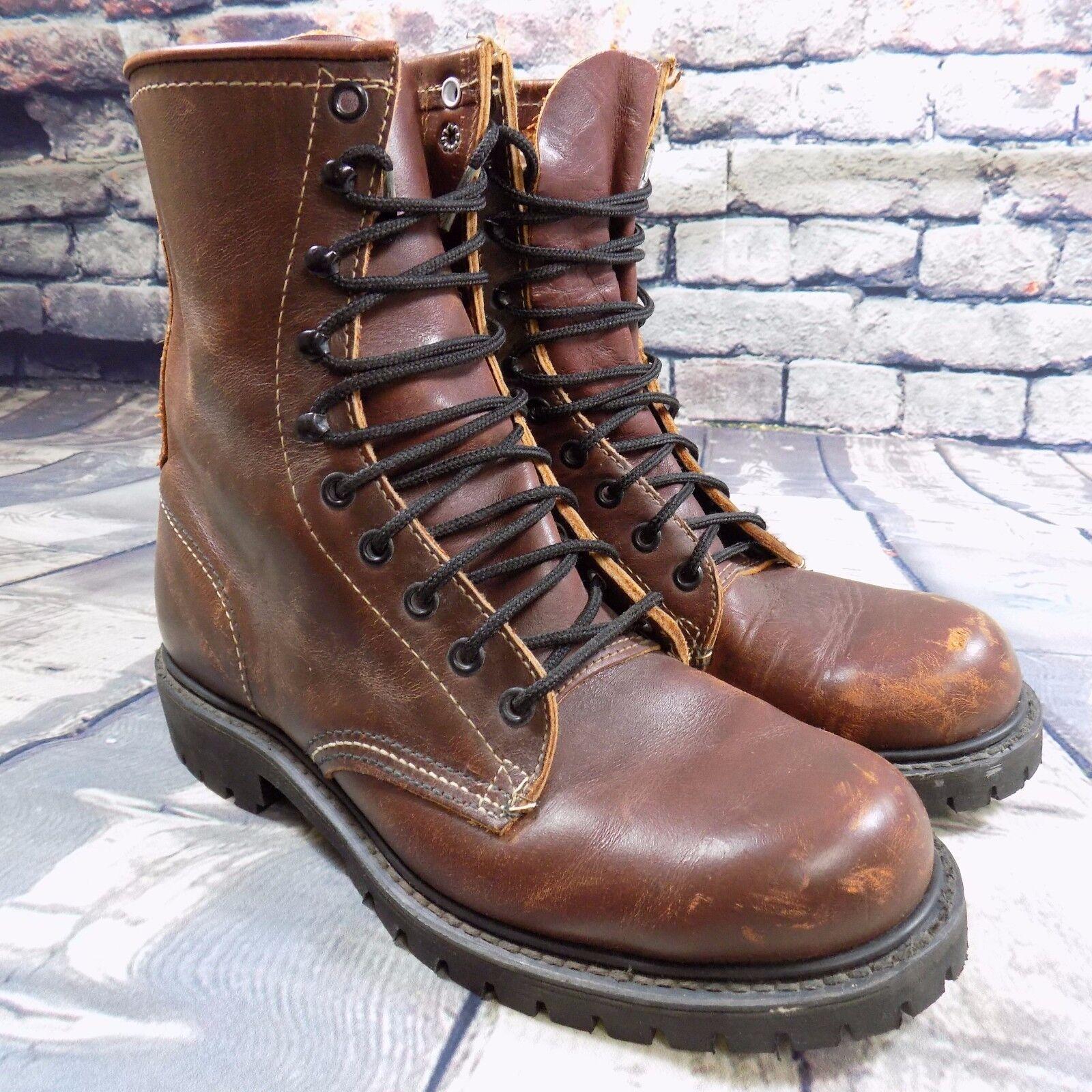 Motani Leather Hunting Boots Lug USA Made Vintage Size 7E (Fits Like Men's Sz 9)