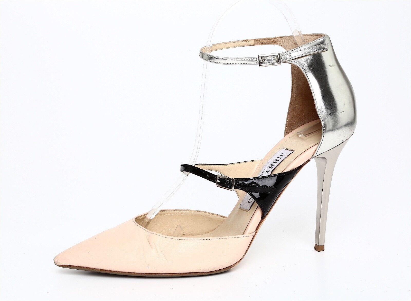 per il tuo stile di gioco ai prezzi più bassi Jimmy Jimmy Jimmy Choo Pointed Toe Beige Leather Heel Sz 36.5 EUR 1032  marca