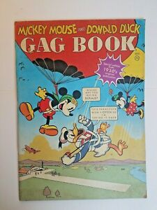 Mickey Mouse and Donald Duck Gag Book 1937 Coloring Book