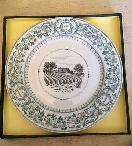 Plate French Wine Bordeaux Assiette Limoges Bernardaud Rothschild Decoration