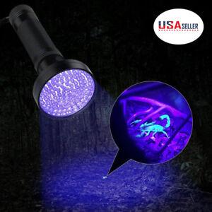 Uv Flashlight 100led Light Detector Pet Cat Dog Bed Bugs Urine