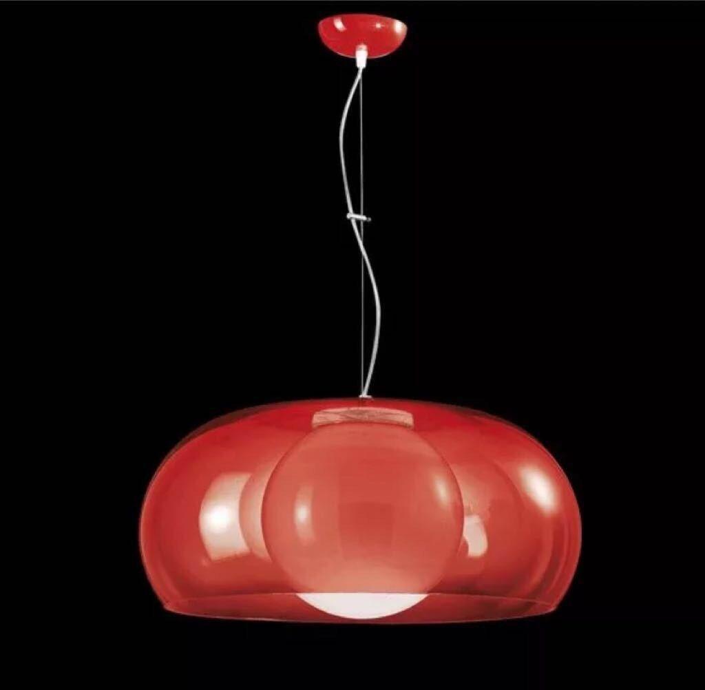 LAMPADARIO BALUN DI METALSPOT rot Ø 54 cm Design Loft Lampada