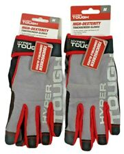 Hyper Tough Gloves High Dexterity Touchscreen Compatible Size M New Lot Of 2