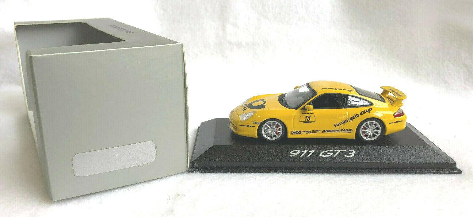 oferta de tienda Minichamps Escala 1 1 1 43 Porsche 911 GT3,  15,  Foro amarillo Taza , 2006  envío rápido en todo el mundo