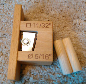 """Dowel Rod Cutter DRC 5/16"""" for making round Arrow Shafts from square rods"""