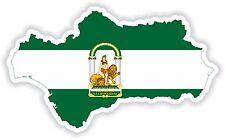 Adesivo SILHOUETTE Andalusia Spagna Paese Bandiera mappa PER PARAURTI AUTO