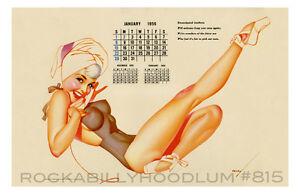 Pin Up Girl Poster 11x17 George Petty girl Calendar Ballet January 1956