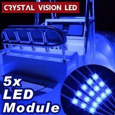 Crystal Vision Premium LED 5PCS Kit For Boat Marine Deck Interior Light (Blue)
