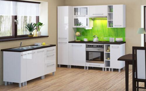 Weiß-Hochglanz Küchen Eckschrank Eckunterschrank Loara Holz KLND