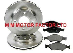Ford-fiesta-2002-2008-1-25-1-3-1-4-TDCi-1-6-TDCi-16v-Delantero-Discos-De-Freno-amp-Almohadillas