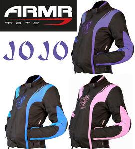 ARMR-MOTO-JOJO-Mujer-Textil-Protectora-Impermeable-Chaqueta-de-la-motocicleta
