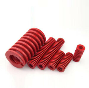 18mm OD 80mm Long Medium Load Stamping Compression Mold Die Spring Red