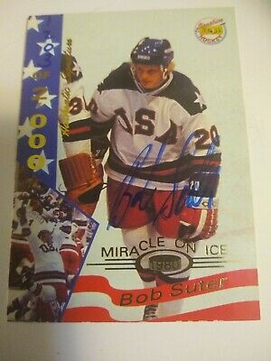 1995 Signature Rookies Miracle on Ice 1980 Signatures //2000 Neal Broten #4 Auto