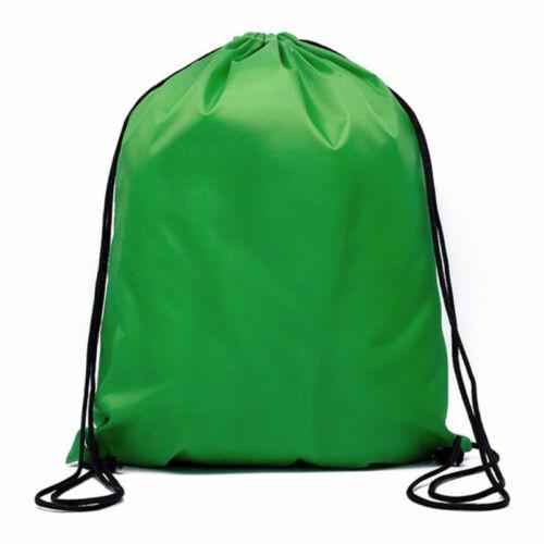 Sport 10 Colors Beach Waterproof Bag Drawstring Backpack GYM Dance Outdoor New D