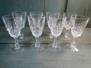 8 verres anciens verre digestif liqueur cristal style baccarat french antique ebay. Black Bedroom Furniture Sets. Home Design Ideas