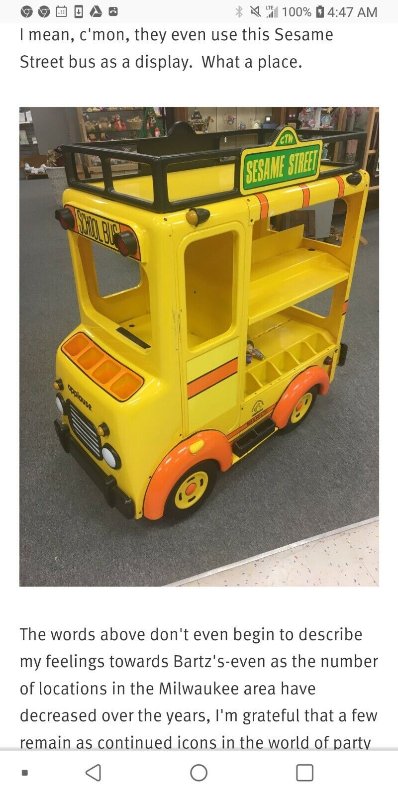 Sesame Street Applause School Bus