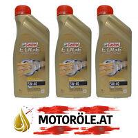 3 Liter Castrol EDGE FST TITANIUM Turbo Diesel 5W-40 Motoröl 5W40 VW 505 01